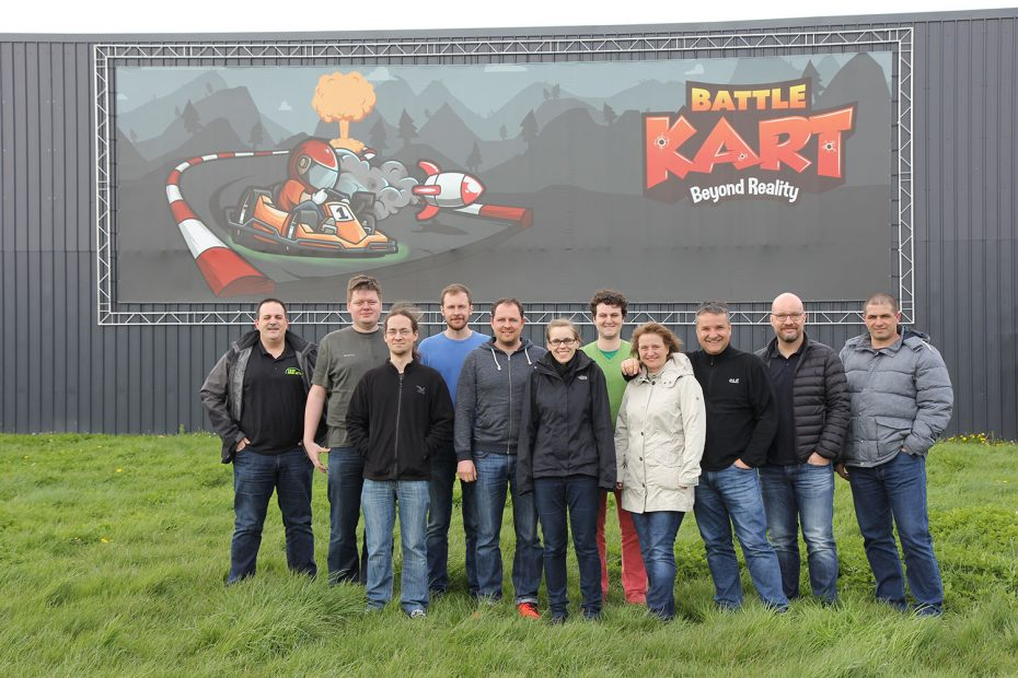 event secuinfra team event brussels 2016 apr team battlekart